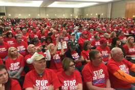 Hundreds of people have packed an SJRA meeting to debate whether it should continue lowering Lake Conroe seasonally, a policy that went in place after Hurricane Harvey. The meeting was relocated to accommodate the expected crowd against it.