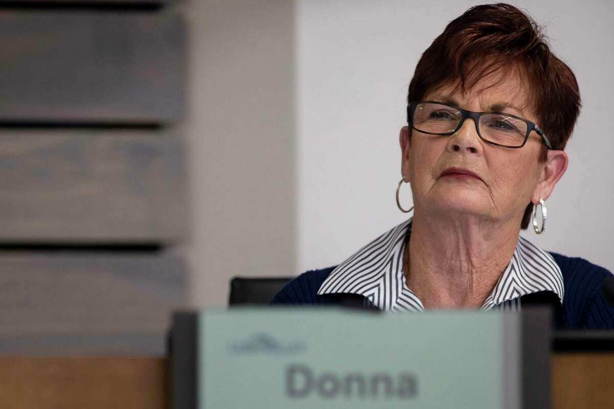 Leon Valley City Councilor Donna Charles faces a potential forfeiture hearing for allegedly releasing sensitive information. She also is targeted in a Nov. 3 recall initiative.