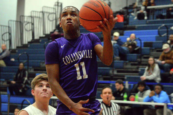 Collinsville's Cawhan Smith goes up for a layup during Tuesday's game against Althoff in the Belleville East Classic.
