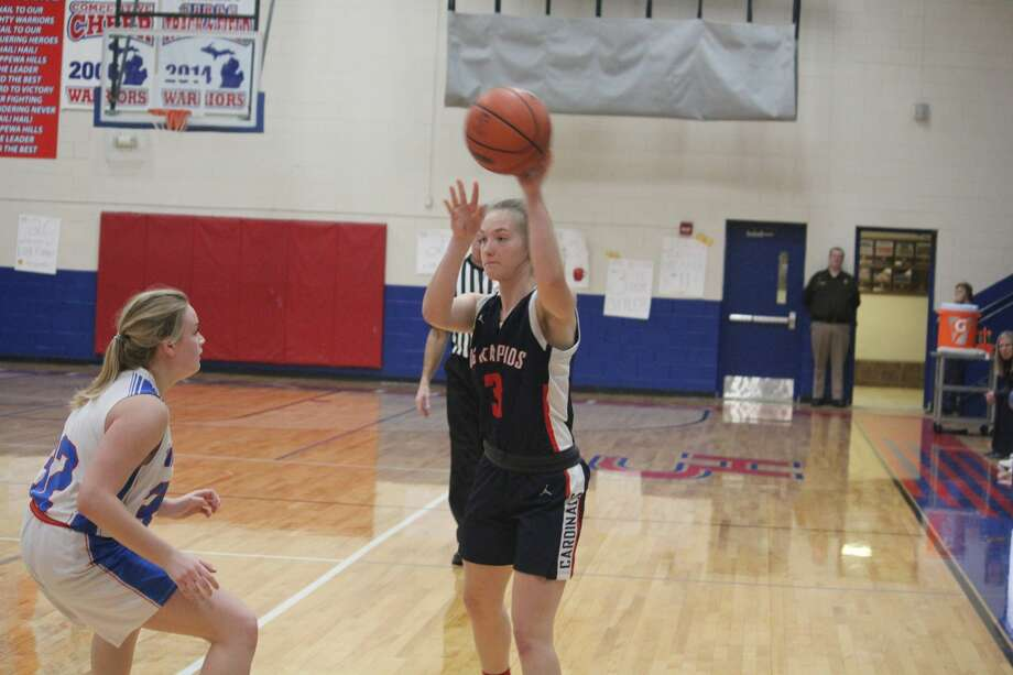 Big Rapids' girls basketball team fired out to a 21-0 lead and scored a 53-20 win on Tuesday over Chippewa Hills. Photo: John Raffel
