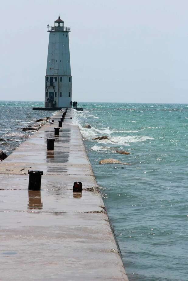 The Army Corps of Engineers if advising caution in andon structures around the Great Lakes due to high water levels. (File photo)