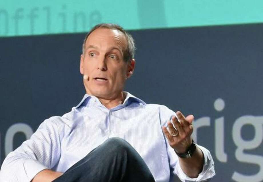 Booking Holdings CEO Glenn Fogel in 2017 in Fort Lauderdale, Fla., at a travel conference sponsored by PhocusWright. (Screenshot via YouTube) Photo: /