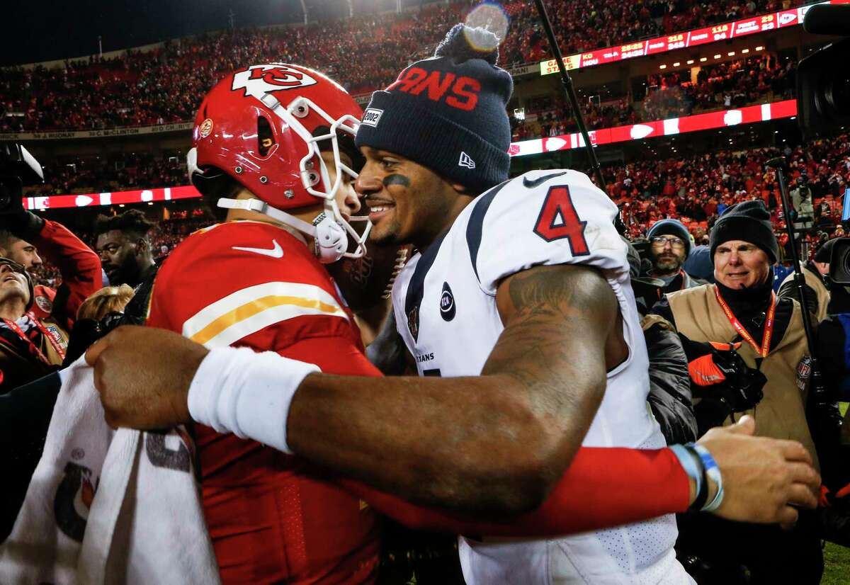 Deshaun Watson is happy for the contract that Patrick Mahomes signed and says he wants to stay a Texan but is leaving details to his agent.