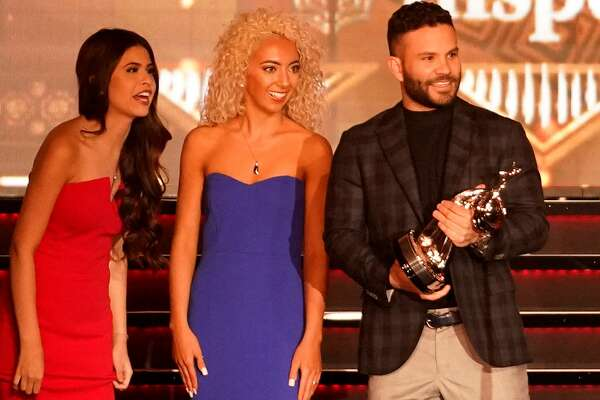 Jose Altuve receives the moment of the year award at the 3rd Annual Houston Sports Awards Tuesday, Jan. 21, 2020, Hilton Americas, 1600 Lamar St., in Houston.