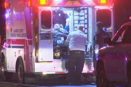 A man was put into an ambulance after an officer-involved shooting in Livermore. Jan. 21, 2020.