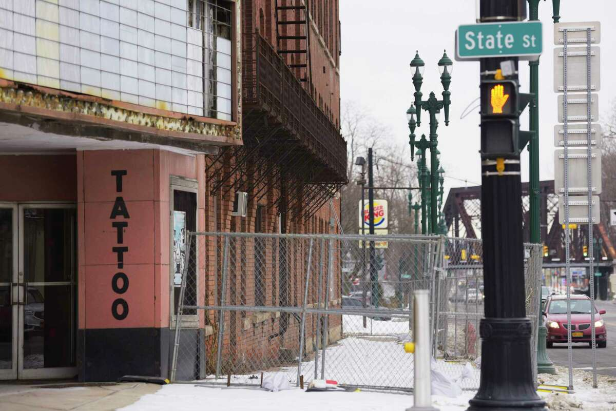 A view of the Wedgeway building on State Street on Wednesday, Jan. 22, 2020, in Schenectady, N.Y. (Paul Buckowski/Times Union)