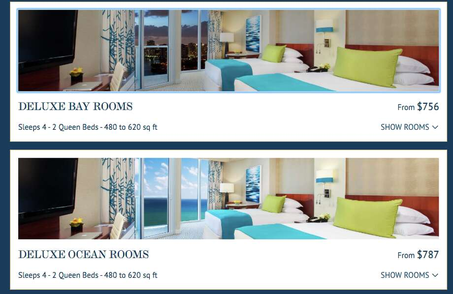 Rooms selling for less than $800 on the Trump Miami website Photo: Trump Hotels