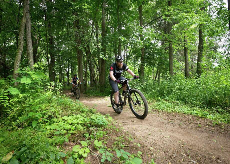 Mountain biking at along the DTE Energy Foundation Trail at Waterloo Recreation Area.(Courtesy photo/Michigan DNR) / Copyright 2016 State of Michigan