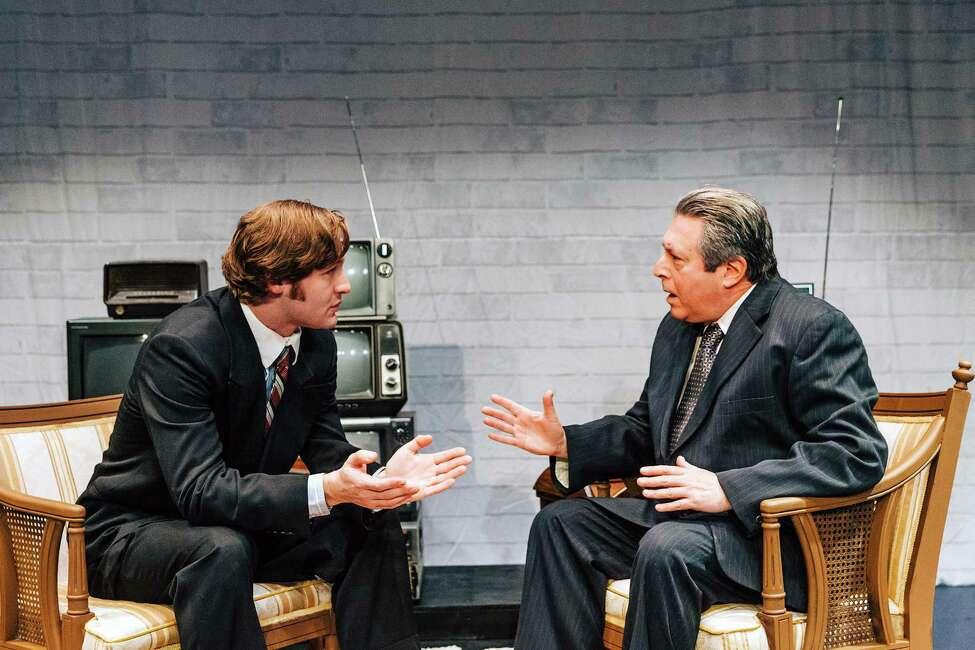 FrostNixonPromo_09 -- (l to r) Conrad T. Browne-L?rcher (as David Frost) & Steven Leifer (as Richard Nixon) a€?