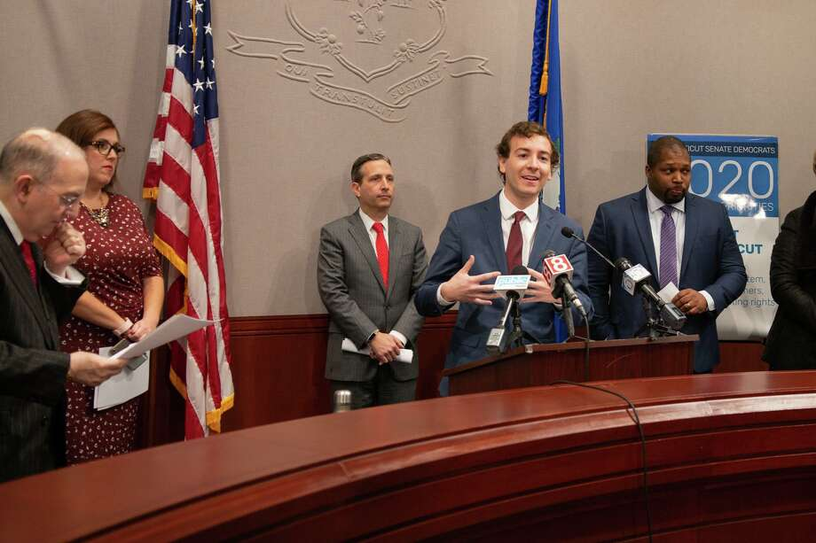 Will Haskell speaks in the Capitol on Jan. 22. Photo: Contributed Photo / Will Haskell / Wilton Bulletin Contributed