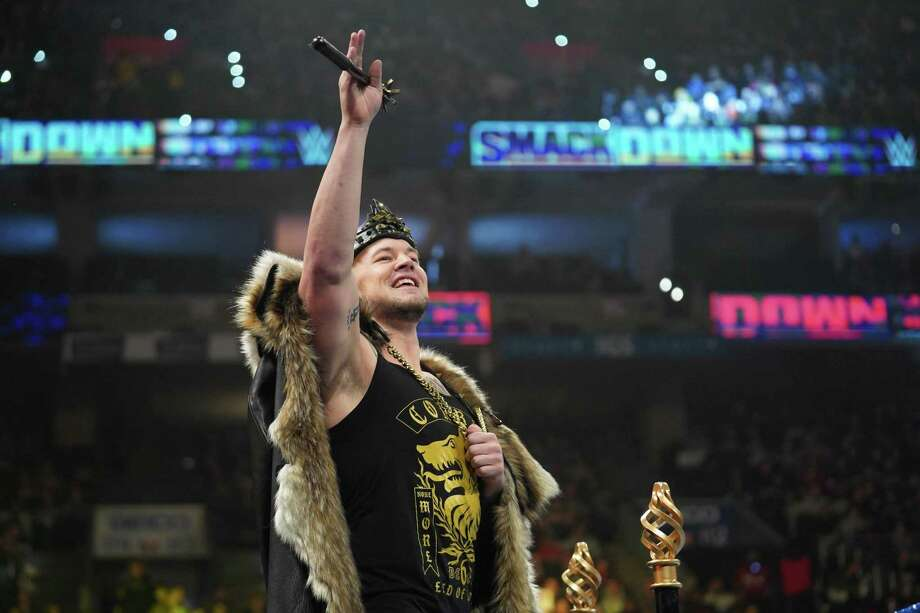 WWE superstar Baron Corbin is slated to face Roman Reigns in a falls count anywhere match at the Royal Rumble at Minute Maid Park in Houston on Sunday. Photo: Courtesy Photo /WWE