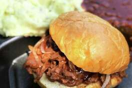 """This """"brisket"""" sandwich is actually vegan. >>See other Houston restaurants that are vegetarian and vegan."""