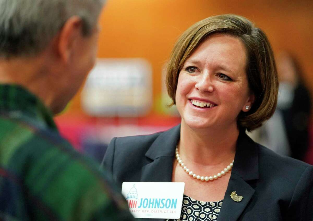 Democrat Ann Johnson is shown during the candidate forum for House District 134 held at Faith Lutheran Church, 4600 Bellaire Blvd., Thursday, Jan. 9, 2020, in Bellaire.