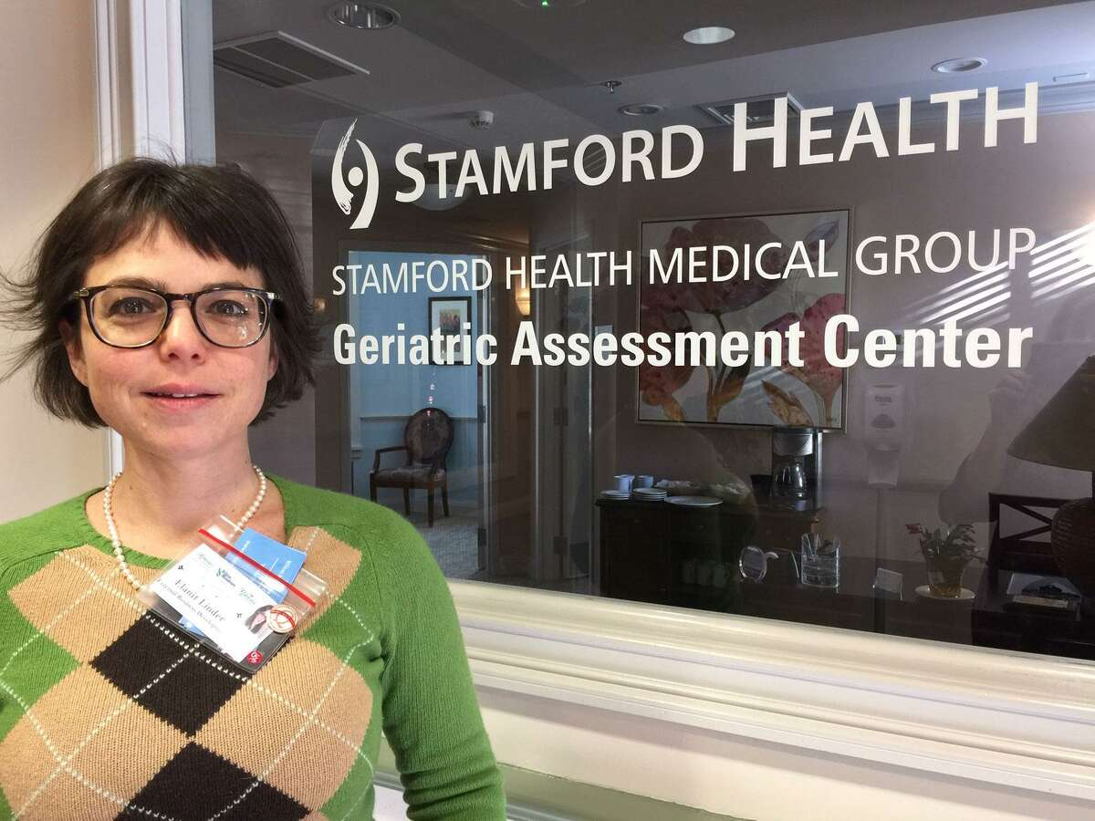 Elanit Linder, clinical community liaison, gives a tour of the Stamford Hospital Geriatric Assessment Center on the Cannondale Campus in Wilton which includes Wilton Meadows, a rehabilitation and nursing facility and The Greens at Cannondale, an assisted living center.