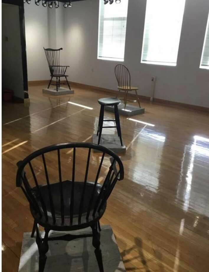 Andrew Jack's handmade Windsor chairs can be seen in theGallery at Northwestern Connecticut Community College's Founders Hall until Feb. 17. Photo: Contributed Photo