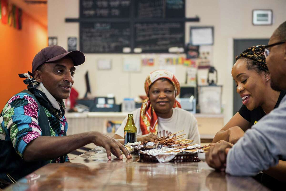 Chef Marcus Samuelsson spends time with chef/owner Patricia Nyan and her staff at West African restaurant Suya Hut in Houston. Houston's West African foods and culture are featured in an episode of Season 2 of