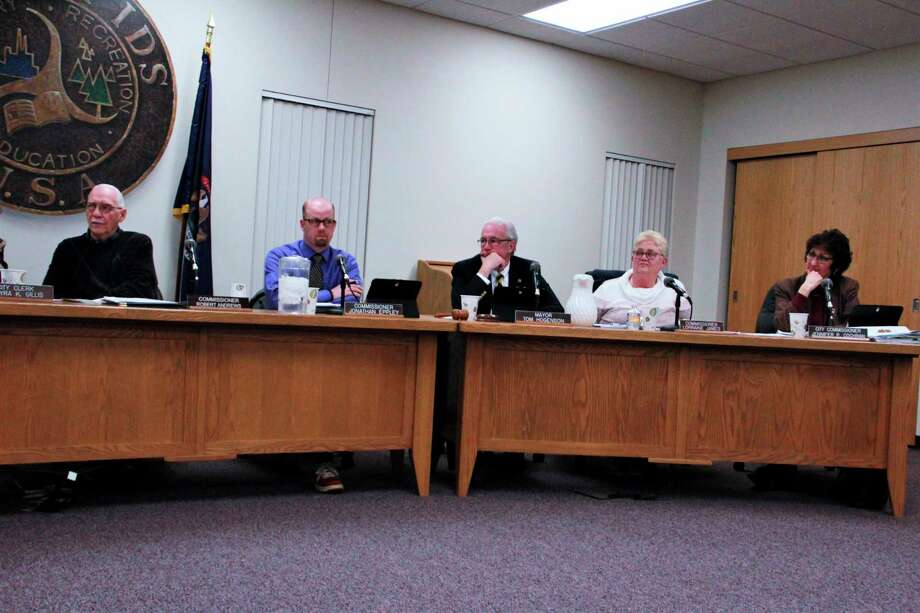 During their Tuesday meeting, the Big Rapids City Commission voted on a number of items, as well as denying an easement to Consumers Energy. (Pioneer photo/Alicia Jaimes)