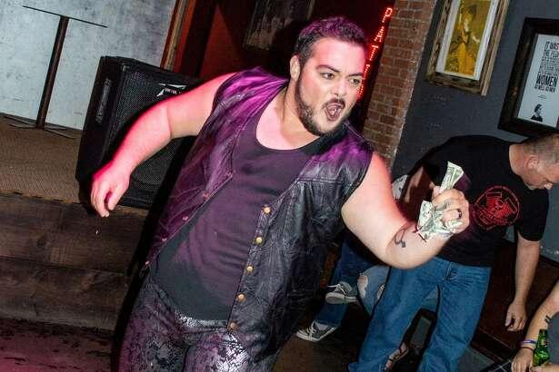 Houston drag king Ian Syder-Blake performing at Pearl Bar.