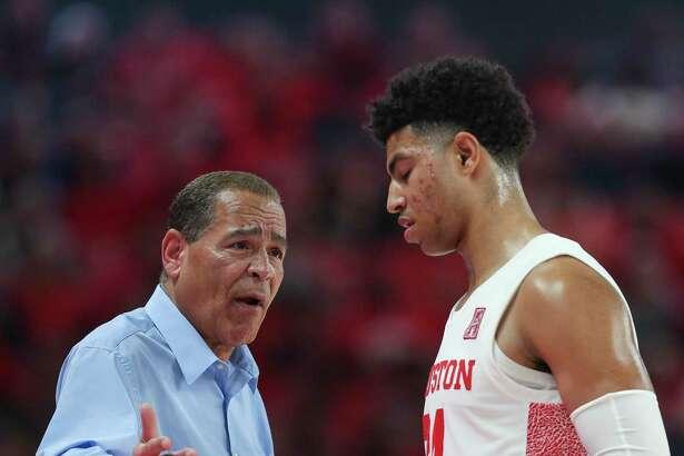 Coach Kelvin Sampson and the Houston men's basketball team will host UConn on Thursday.
