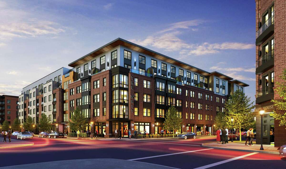 Rendering of Hines development of 630 Chapel St. and 673 Chapel St. formerly owned by Comcast. A total of 230 apartments are planned.