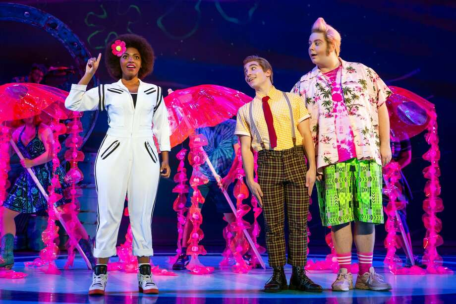 """The one Texas tie to """"The SpongeBob Musical"""" would be Sandy Cheeks. Sandy probably hails from Houston, although her Texas twang might place her more in East Texas, according to actor Daria Pilar Redus, Sandy's a squirrel. Photo: Jeremy Daniel(www.jeremydanielp"""