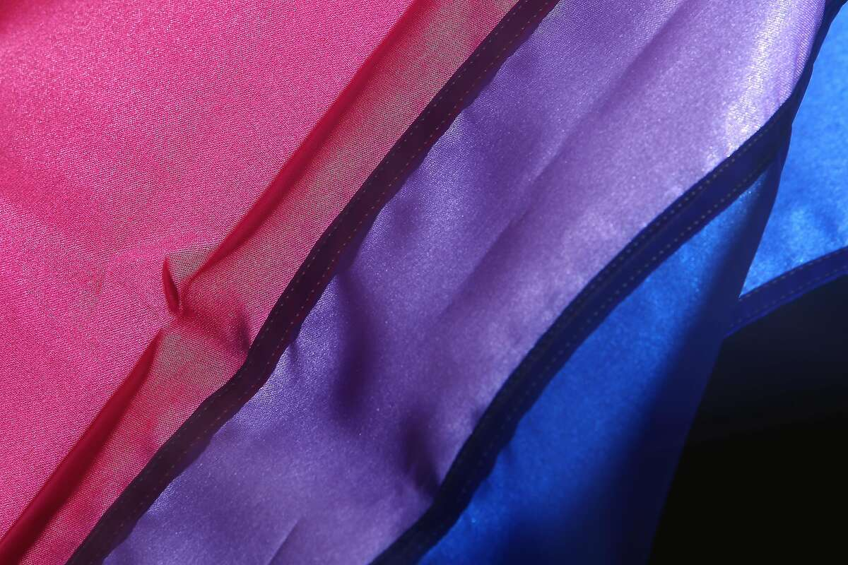 A detail of a bisexual pride flag is seen in the Chronicle photo studio on Wednesday, January 22, 2020 in San Francisco, Calif.