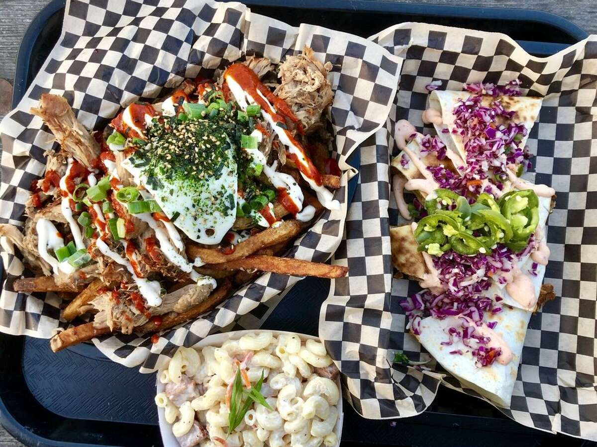 Marination Station/Marination/Marination Ma Kai The brick-and-mortar spaces for Hawaiian-Korean fused fare serves up $3 sliders packed with Hawaiian braised Kalua pork, and $3 tacos showered with miso ginger chicken, kalbi beef, or spicy pork. After 10 years of