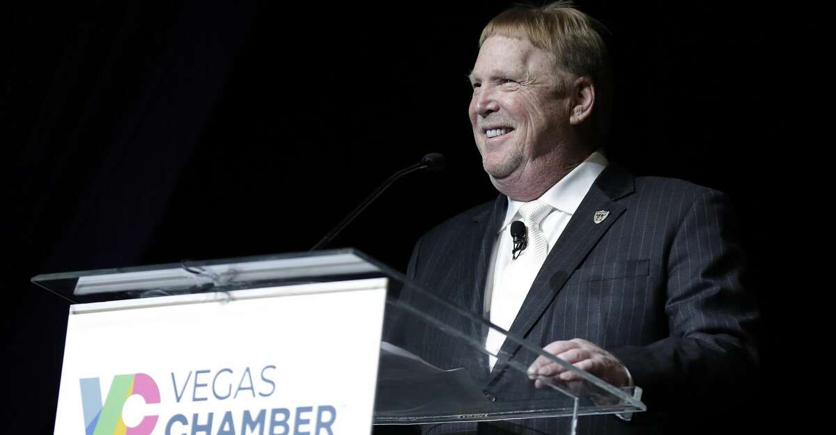 LAS VEGAS, NEVADA - JANUARY 17: Oakland Raiders owner and managing general partner Mark Davis speaks during the Preview Las Vegas business forecasting event at Wynn Las Vegas on January 17, 2020 in Las Vegas, Nevada. (Photo by Isaac Brekken/Getty Images)