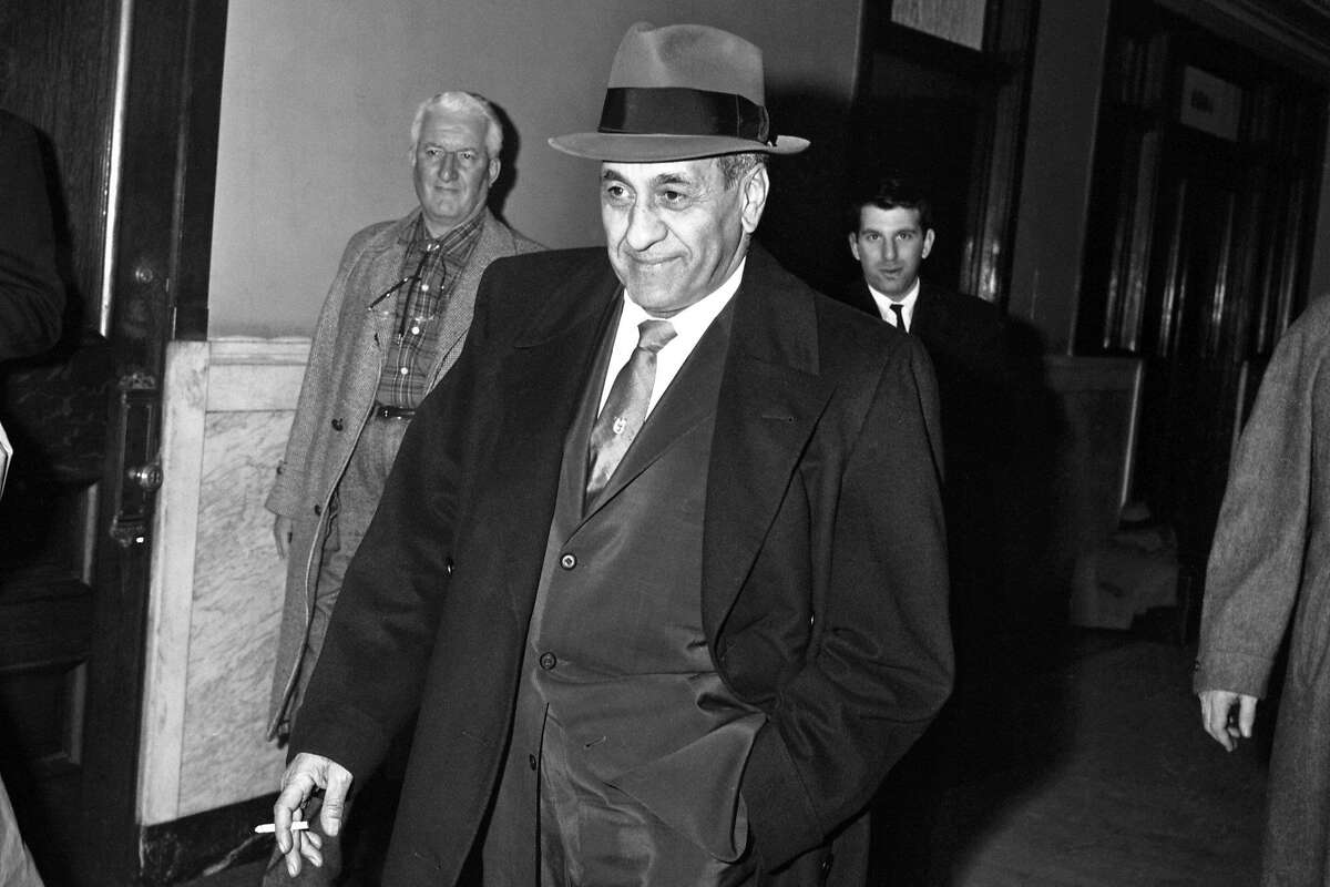 Tony Accardo in corridor of the Federal Building after being found guilty of income tax evasion. (Photo by Bettmann Archive/Getty Images)