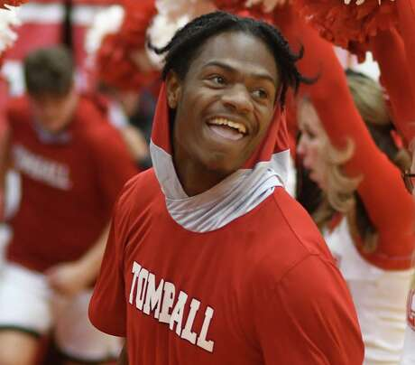 In his basketball debut with Tomball on Tuesday night, Demond Demas scored six points in a 64-40 win over Caney Creek.