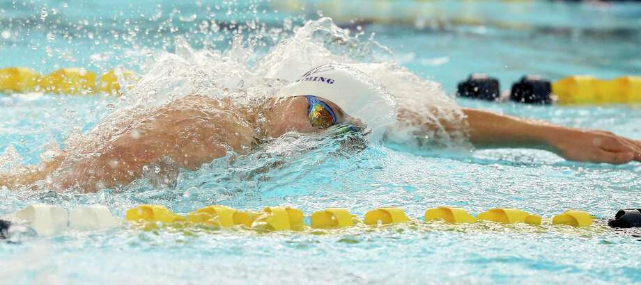 Ethan Doehler wins the 100 freestyle for SMH during the TAPPS regional swim meet at Bill Walker pools on Jan.22, 2020. Photo: Tom Reel, San Antonio Express-News / Staff Photographer / **MANDATORY CREDIT FOR PHOTOG AND  SAN ANTONIO EXPRESS-NEWS/NO SALES/MAGS OUT/TV