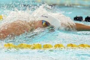 Ethan Doehler wins the 100 freestyle for SMH during the TAPPS regional swim meet at Bill Walker pools on Jan.22, 2020.