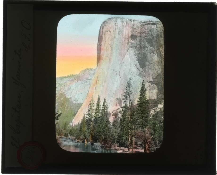 """El Capitan, Yosemite"" by C.F. Oehler. These lantern slides of Yosemite National Park were donated to the park's photo archives and show slices of life from 1903. Photo: Charles F. Oehler / Yosemite National Park Archives"