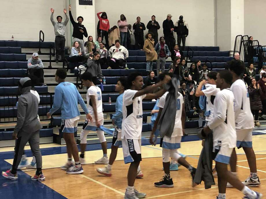 Middletown players leave the floor following their 86-69 victory over Bassick on Jan. 22, 2020 in Middletown, Conn. Photo: Paul Augeri / For Hearst Connecticut Media / Stamford Advocate Freelance