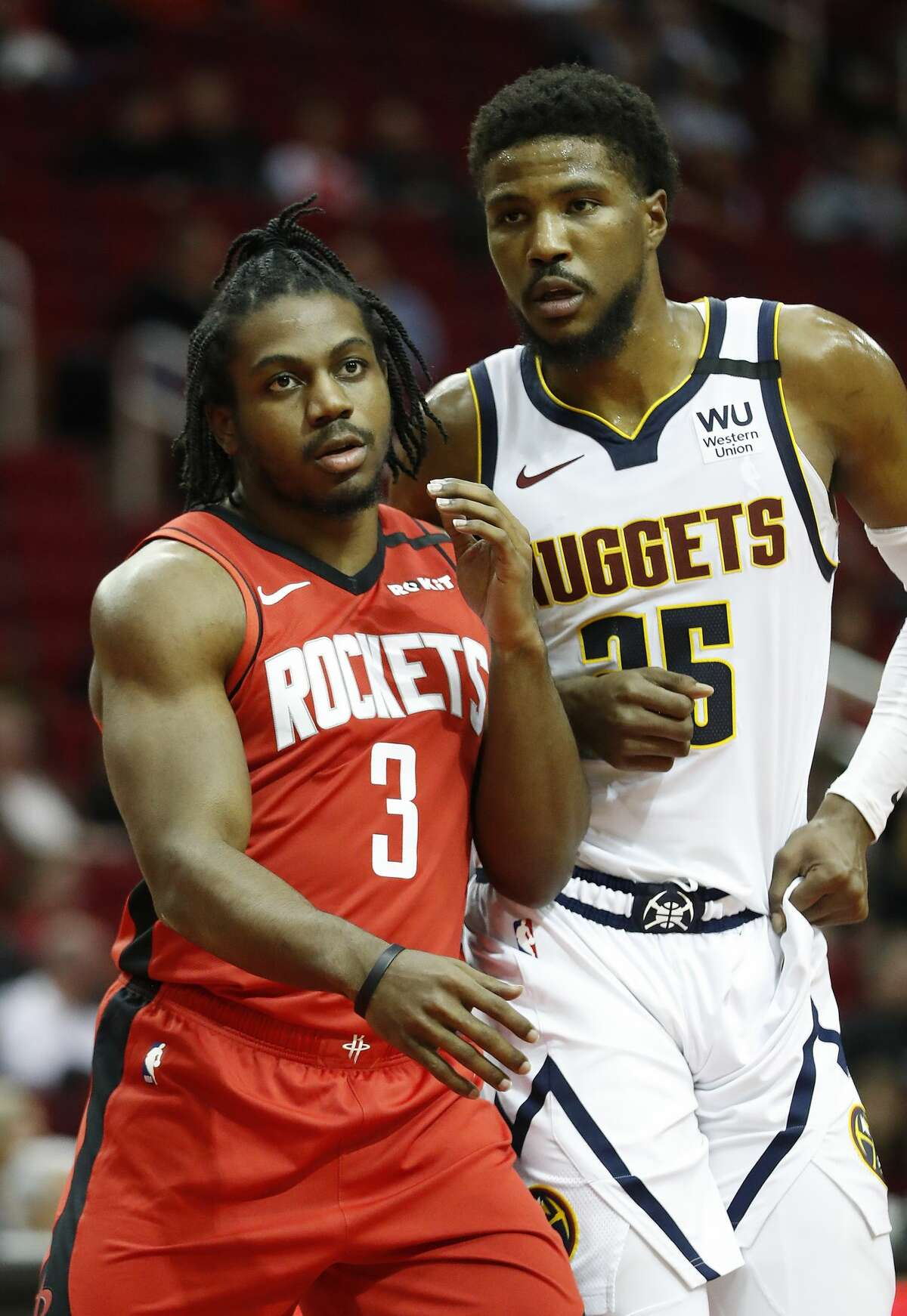 Houston Rockets guard Chris Clemons (3) saw some playing time late during the second half of an NBA basketball game at Toyota Center in Houston, Wednesday, Jan. 22, 2020.
