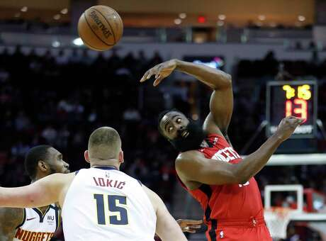 Guard James Harden was displaying a tendency to pass the ball more Wednesday as he took only six shots while scoring 20 first-half points. He finished with 27.