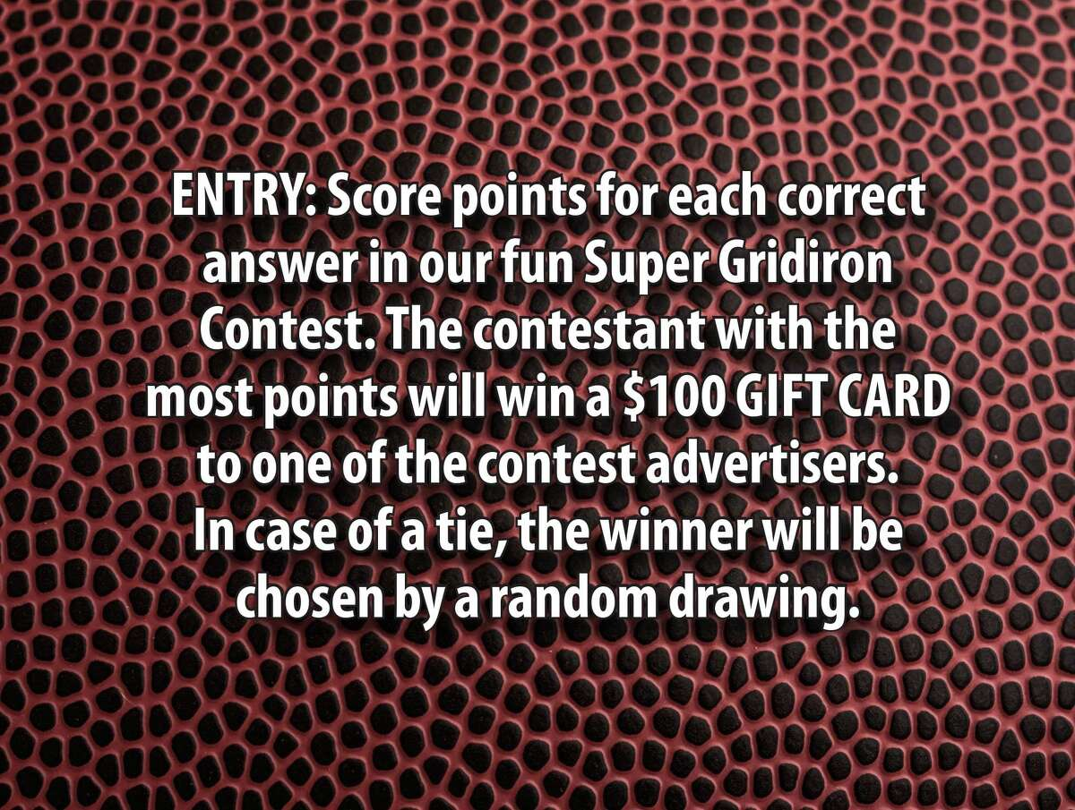 Enter the Huron Daily Tribune's Super Gridiron Guessing Game Contest and you could win a $100 gift certificate. Enter online, by mail or drop off your entries at the Huron Daily Tribune. Entries due by Jan. 31. The winner will be announced on Feb. 8. GOOD LUCK!