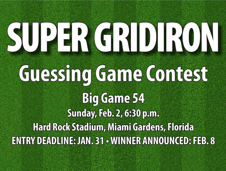 Enter the Huron Daily Tribune's Super Gridiron Guessing Game Contest and you could win a $100 gift certificate. Enter online, by mail or drop off your entries at the Huron Daily Tribune. Entries due by Jan. 31. The winner will be announced on Feb. 8. GOOD LUCK! Photo: Padams, Huron Daily Tribune/Metro Creative Graphics