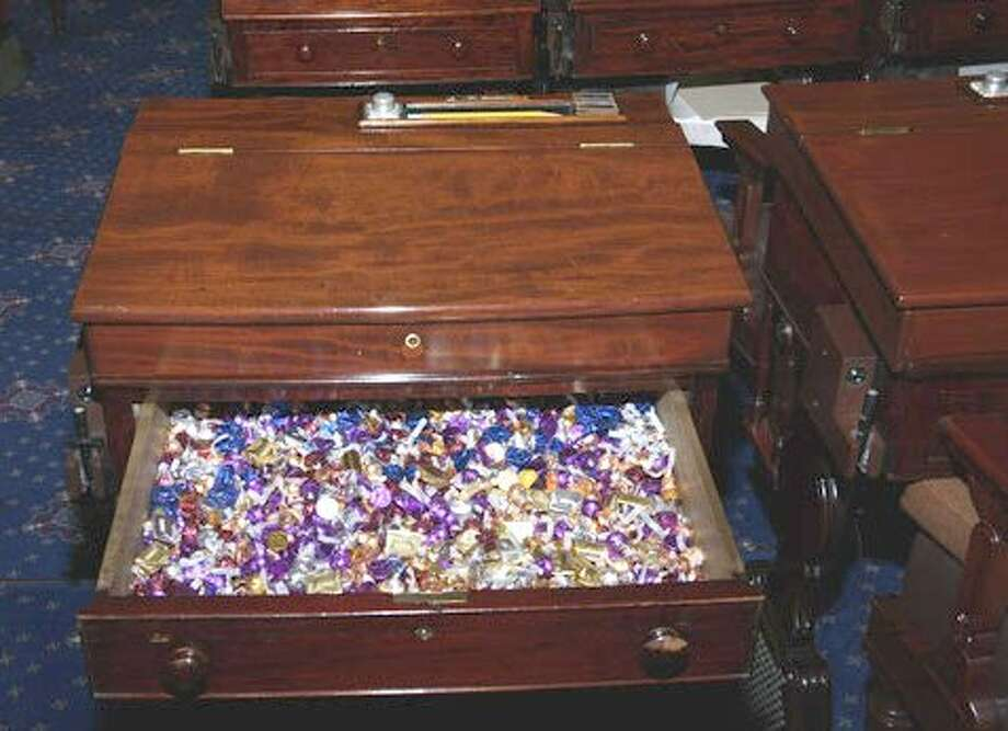 "The ""candy desk"" in the United States Senate. Photo: Senate.gov"
