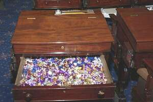 "The ""candy desk"" in the United States Senate."