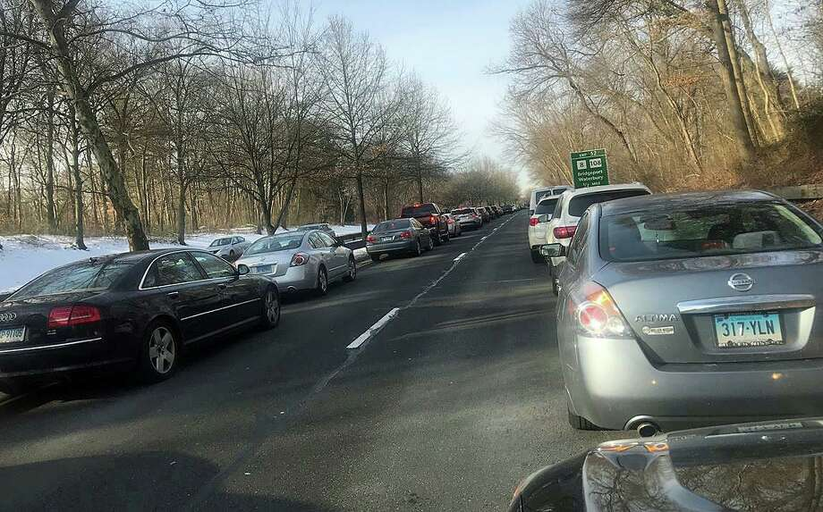 A multi-vehicle crash has closed the southbound Merritt Parkway in Stratford on Thursday, Jan. 23, 2020. Photo: Josh LaBella /Hearst Connecticut Media