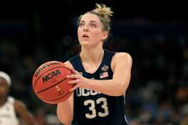 Former UConn star Katie Lou Samuelson was added the Team USA roster this week, giving the national team five former Huskies as it faces Geno Auriemma's team Monday night in Hartford.