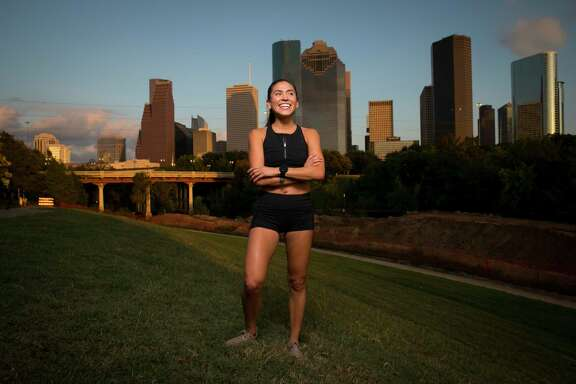 Local Houston runner Starla Garcia poses along Buffalo Bayou on Oct. 9, 2019, in downtown Houston. Garcia ran the 2020 Chevron Houston Marathon and qualified for the Olympic trials.