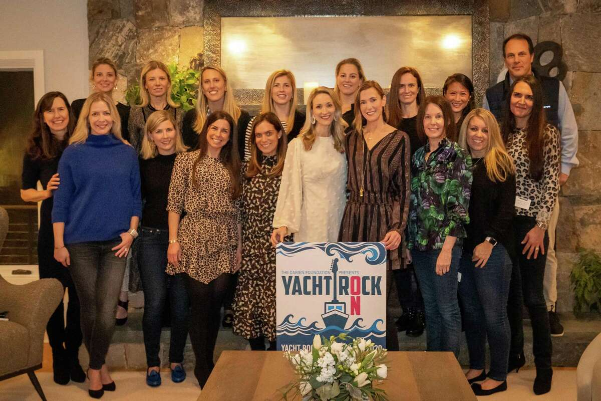 """The Darien Foundation and members of the """"Yacht Rock On"""" event committee gathered for a planning session. Sarah Woodberry, front, left, Janel Mitchley, Maggie Machir, Gina Gromelski, Sarah Evans, Alison Muench, Byrne Pozzi, Kerrie Kelley, Kerry Coppola; Sarah Guilbride, back, left, Margit Bluestein, Medora Westcott, Hilary Thompson, Kate Coyle, Jennifer Morici, Jennifer Sherman, Julianna Spain and Ward Glassmeyer."""