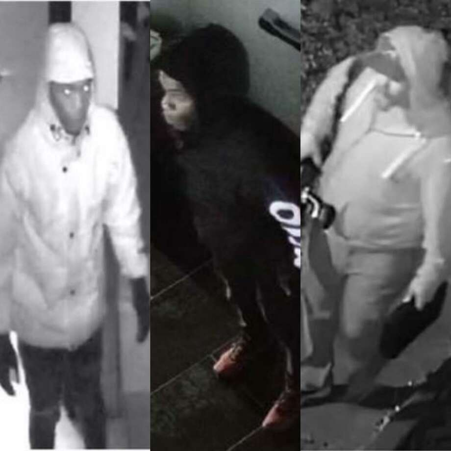Two unidentified men are wanted in Montgomery County for allegedly burglarizing property in separate, unrelated incidents. They are seen here on images from surveillance video footage. Photo: Courtesy Of The Montgomery County Sheriff'S Office.