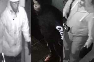 Two unidentified men are wanted in Montgomery County for allegedly burglarizing property in separate, unrelated incidents. They are seen here on images from surveillance video footage.