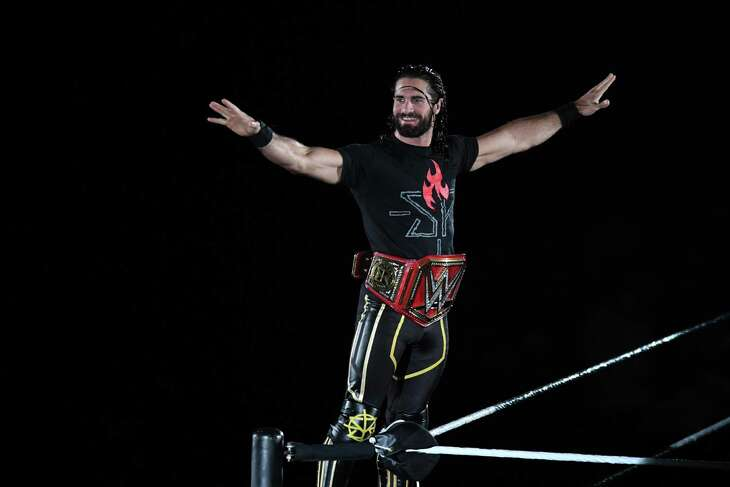 Seth Rollins enters the ring during the WWE Live Tokyo at Ryogoku Kokugikan on June 29, 2019 in Tokyo, Japan.