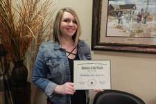 Manager Misty Rowell accepted the Business of the Month award on behalf of the Holiday Inn Express.
