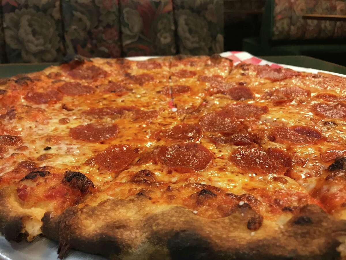 Pepperoni pizza at Mangia Apizza in North Haven