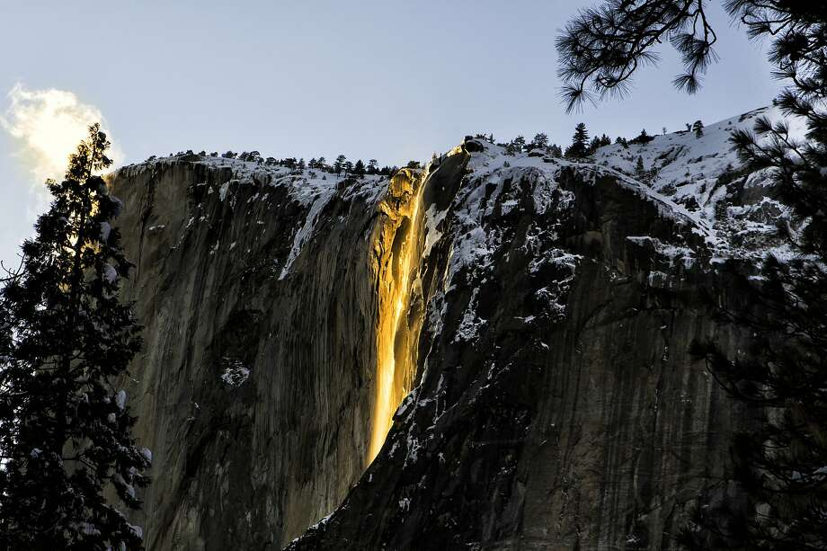 """""""Firefall"""" at Yosemite National Park Photo: Yajnesh Bhat, Getty Images"""